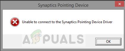 Fix: Es kann keine Verbindung zum Synaptics Pointing Device Driver hergestellt werden