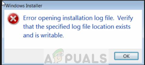 So beheben Sie den Fehler beim Öffnen der Installationsprotokolldatei
