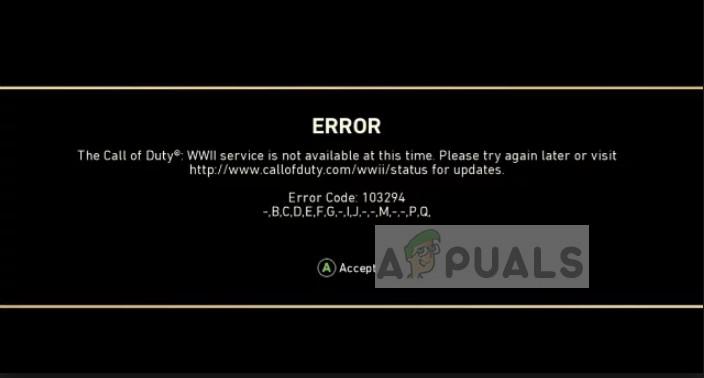 Fix: COD WW2 Fehlercode 103295