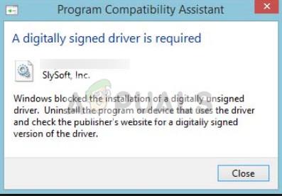 Fix: Windows benötigt einen digital signierten Treiber Windows 7, 8 und 10