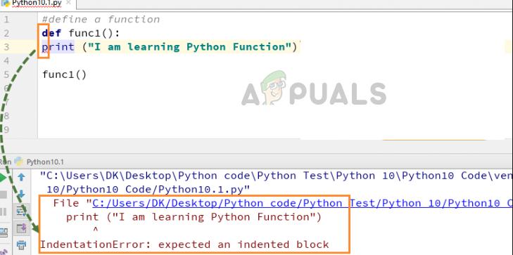 Fix: Einrückungsfehler Python – Appuals.com