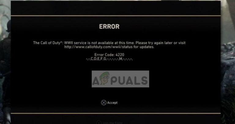 Fix: COD WW2 Fehlercode 4220