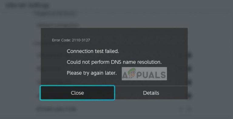 Fix: Nintendo Switch-Fehlercode 2110-3127