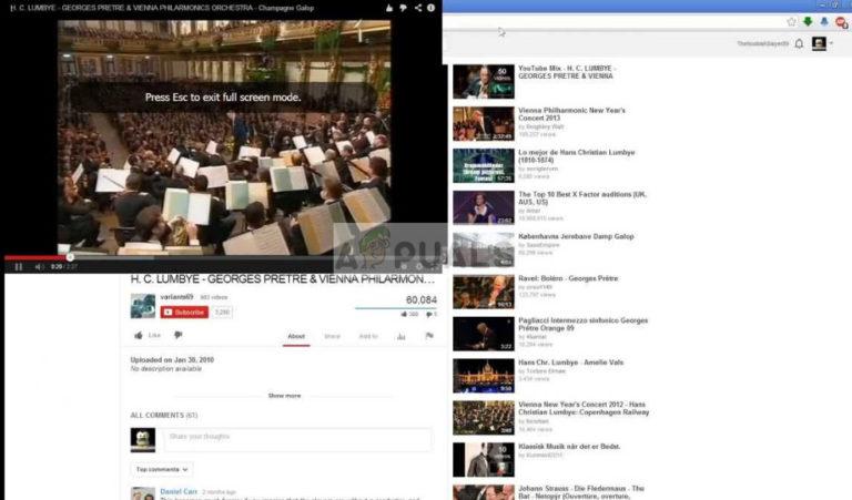 Fix: YouTube Vollbild funktioniert nicht