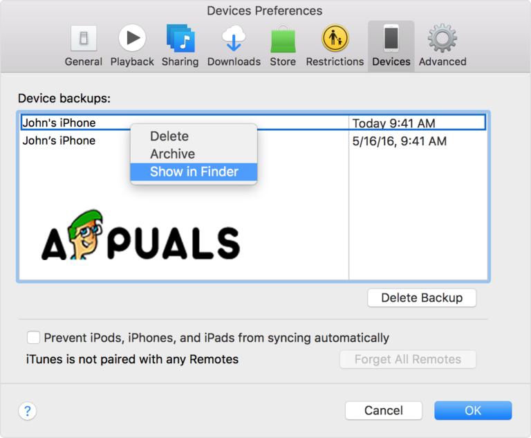 So sichern Sie das iPhone auf einer externen Festplatte