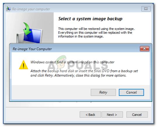 Fix: Windows kann auf diesem Computer kein Systemabbild finden