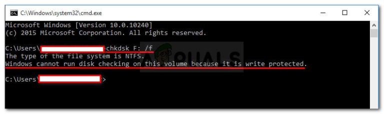 Fix: Windows kann die Datenträgerprüfung auf diesem Volume nicht ausführen, da es schreibgeschützt ist