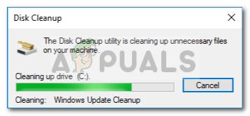 Fix: Festplattenbereinigung bei 'Windows Update Cleanup' hängen geblieben