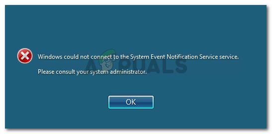 Fix: Windows konnte keine Verbindung zum System Event Notification Service herstellen