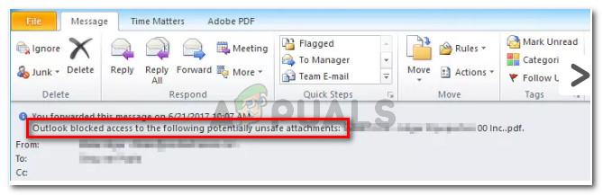 Fix: Outlook blockierte den Zugriff auf die folgenden potenziell unsicheren Anhänge
