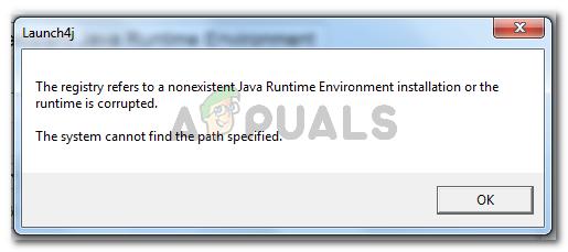 Fix: Die Registrierung verweist auf eine nicht vorhandene Java-Laufzeitumgebung