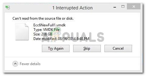 Fix: Kann nicht von der Quelldatei oder Festplatte lesen