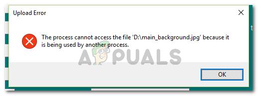 Fix: Der Prozess kann nicht auf die Datei zugreifen, da sie von einem anderen Prozess verwendet wird
