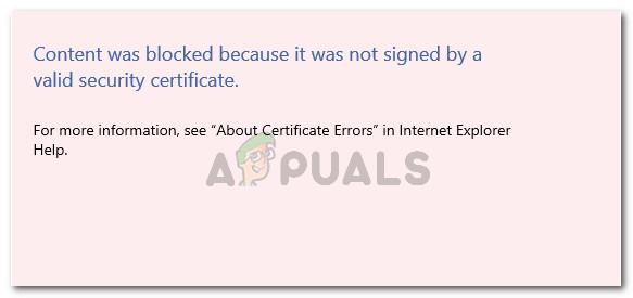Fix: Der Inhalt wurde blockiert, weil er nicht mit einem gültigen Sicherheitszertifikat signiert wurde