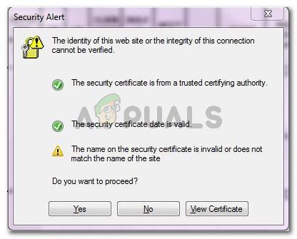Fix: Die Identität dieser Website oder die Integrität dieser Verbindung kann nicht überprüft werden