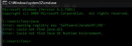Fehler beheben Java SE Runtime Environment konnte nicht gefunden werden