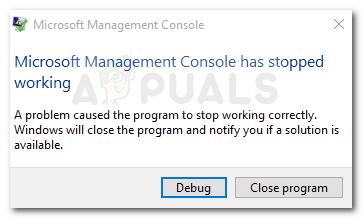 Fix: Microsoft Management Console funktioniert nicht mehr