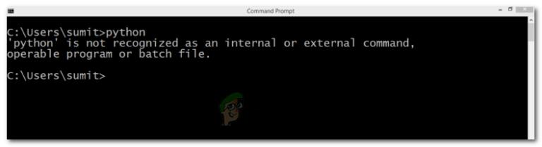 Fix: Python wird nicht als interner oder externer Befehl erkannt