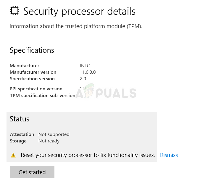 Fix: Setzen Sie Ihren Sicherheitsprozessor zurück, um Funktionsprobleme zu beheben