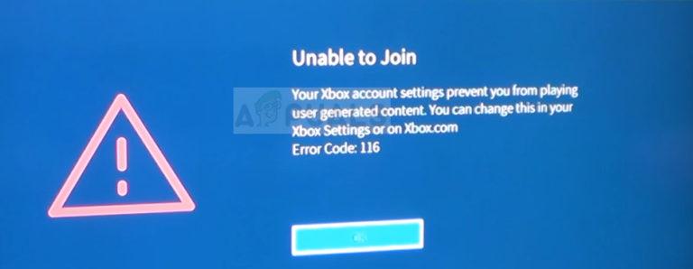 Fix: Roblox-Fehlercode 116 auf der Xbox One-App