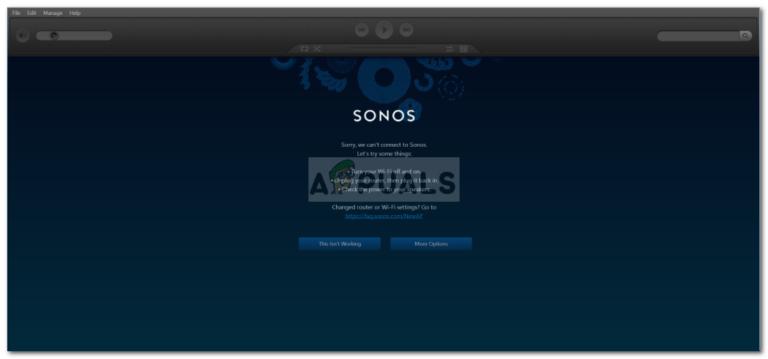 Fix: Sonos verbindet sich nicht – Appuals.com