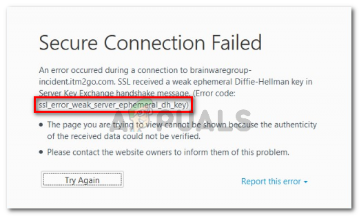 Fix: SSL_Error_Weak_Server_Ephemeral_Dh_Key – Appuals.com