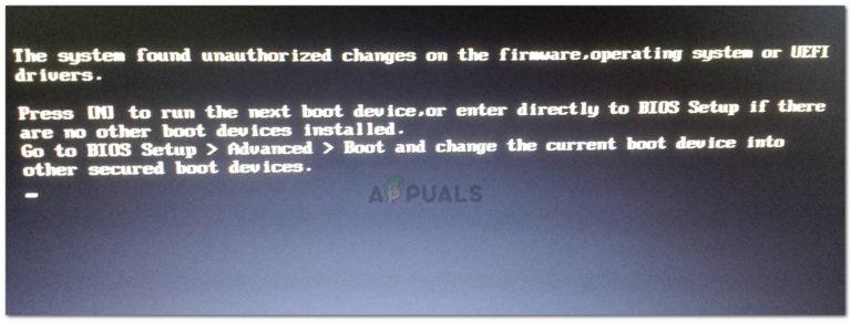 Fix: System hat nicht autorisierte Änderungen an der Firmware, dem Betriebssystem oder den UEFI-Treibern gefunden