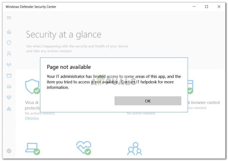 Fix: Ihr IT-Administrator hat eingeschränkten Zugriff