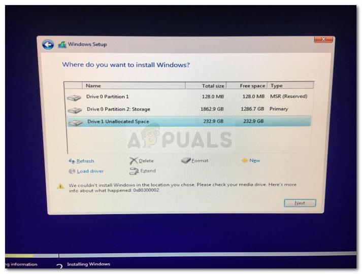 Fix: Windows Installer-Fehler 0x80300002