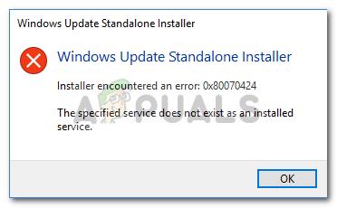 Fix: Windows Update Fehler 0x80070424