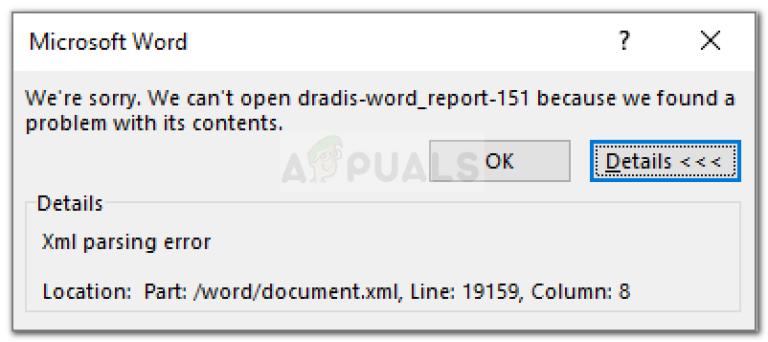 Fix: Microsoft Word XML-Analysefehler