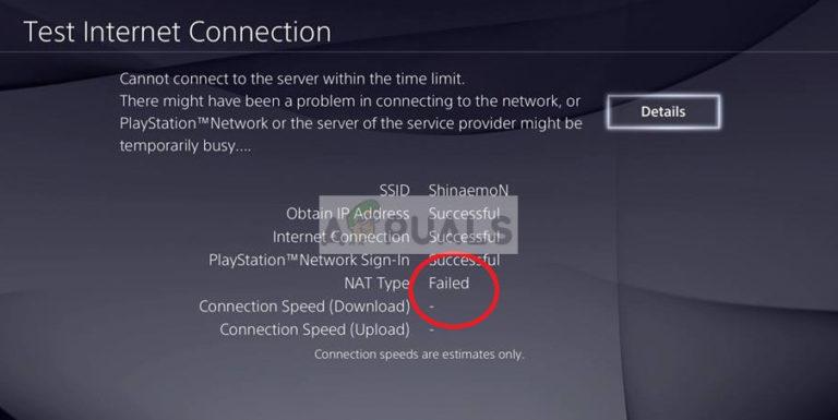 Fix: PS4 NAT-Typ fehlgeschlagen