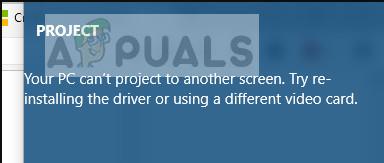 Fix: Ihr PC kann nicht auf einen anderen Bildschirm projizieren
