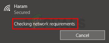 """Fix: Festgefahren bei """"Überprüfen der Netzwerkanforderungen"""""""