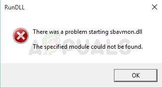 Fix: RunDLL Problem beim Starten von sbavmon.dll – Modul konnte nicht gefunden werden