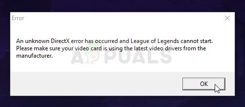 Fix: In League of Legends ist ein unbekannter direkter X-Fehler aufgetreten