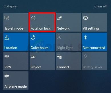 Fix: Windows 10 Rotationssperre ausgegraut