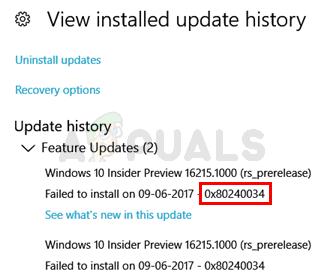Fix: Windows Update Fehler 0x80240034