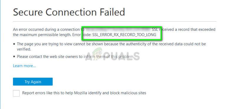 Fix: SSL_ERROR_RX_RECORD_TOO_LONG – Appuals.com
