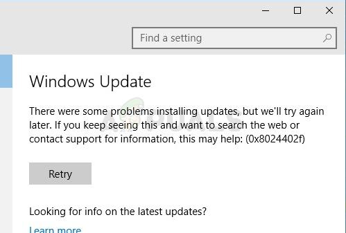 Fix: Windows Update-Fehler 0x8024402f