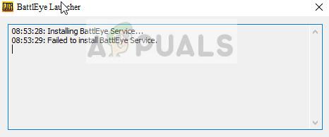 Fix: BattlEye-Dienst konnte nicht installiert werden