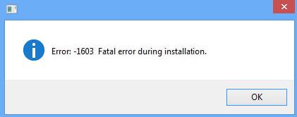 Fix: Während der Installation ist ein schwerwiegender Fehler aufgetreten