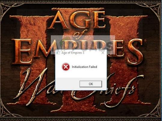 Fix: Age of Empires 3 konnte nicht initialisiert werden