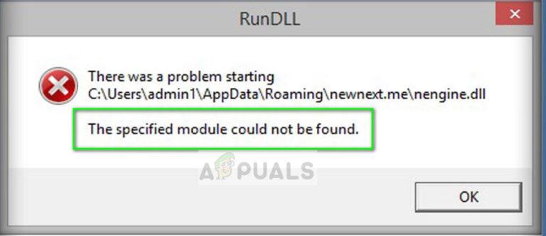 Fix: Das angegebene Modul wurde nicht gefunden