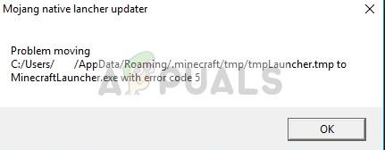 Fix: Minecraft Fehlercode 5