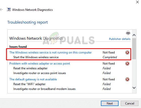Fix: Windows Wireless Service wird nicht ausgeführt