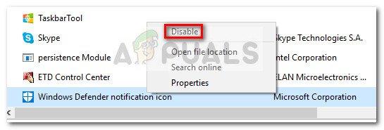So entfernen Sie das Windows Defender-Symbol unter Windows 10