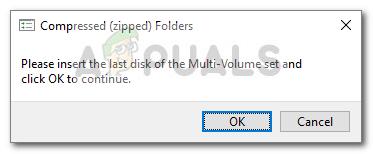 Fix: Bitte legen Sie die letzte Diskette des Multi-Volume-Sets ein