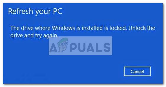 Fix: Das Laufwerk, auf dem Windows installiert ist, ist Windows 10 gesperrt