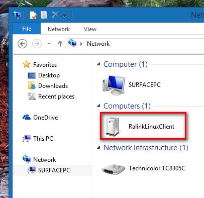 Warum wird RalinkLinuxClient im Windows-Netzwerk angezeigt?